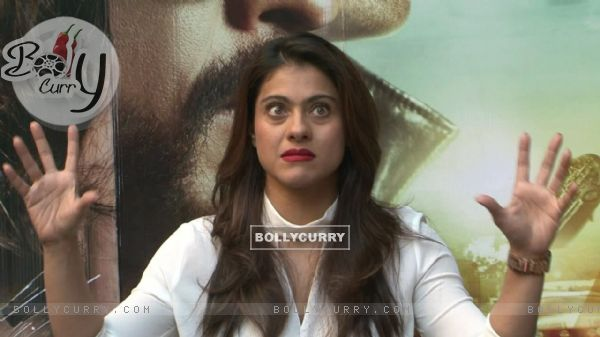 Kajol Snapped During 'Dilwale' Interview