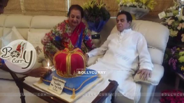 Saira Banu and Dilip Kumar during the Birthday Celebration