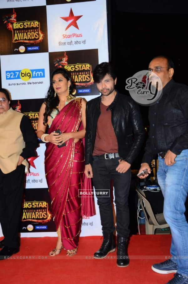 Himesh Reshammiya and Sonia Kapoor at Big Star Entertainment Awards