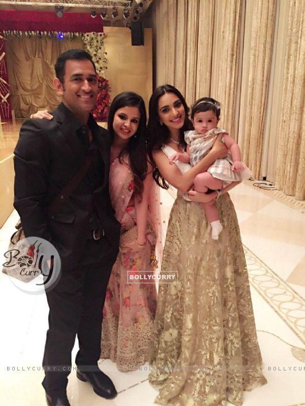 Mahendra Singh Dhoni with wife and Kiara Advani