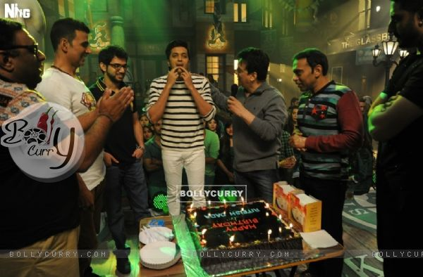 Celebration of Riteish Deshmukh's 37th Birthday on the Sets of Housefull 3