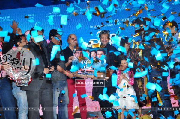 Mahesh Manjrekar at Promotions of Marathi Film 'Bandh Nylon Che'