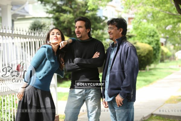 Saif and Kareena with Rensil