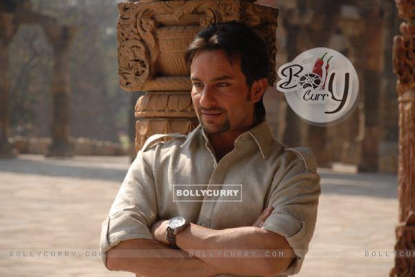 Saif Ali Khan looking happy