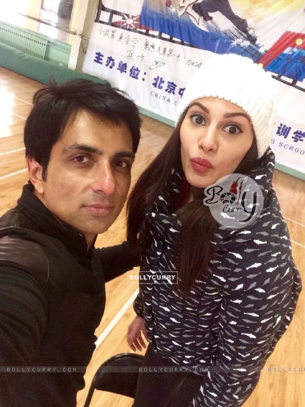 Amyra Dastur and Sonu Sood Bond On the Sets Kung Fu Yoga