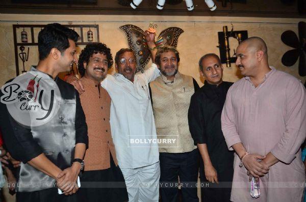Jitendra Joshi and Nana Patekar at Premiere of Marathi Movie 'Natsamrat'
