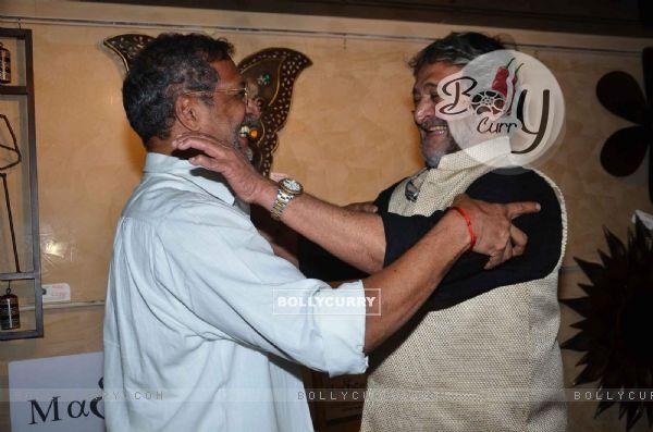 Mahesh Manjrekar and Nana Patekar at Premiere of Marathi Movie 'Natsamrat'