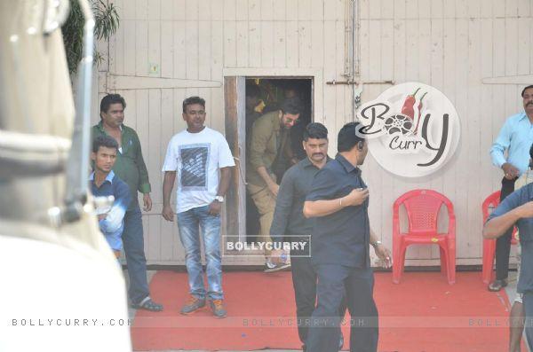 Ranbir Kapoor snapped at a Studio