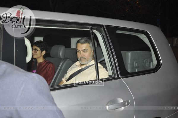 Aamir Khan and Kiran Rao Snapped in Bandra