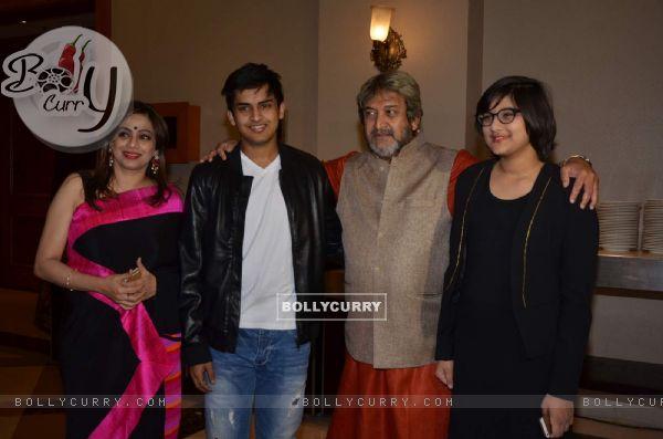 Medha, Satya, Mahesh and Ashwami Manjrekar at Success Bash of 'Natsamrat'