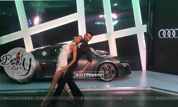 Sandip Soparrkar and Jesse Randhawa at Launch of New Audi Sports Car