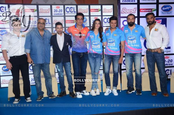 Bollywood Celebs at Launch of Celebrity Cricket League 6