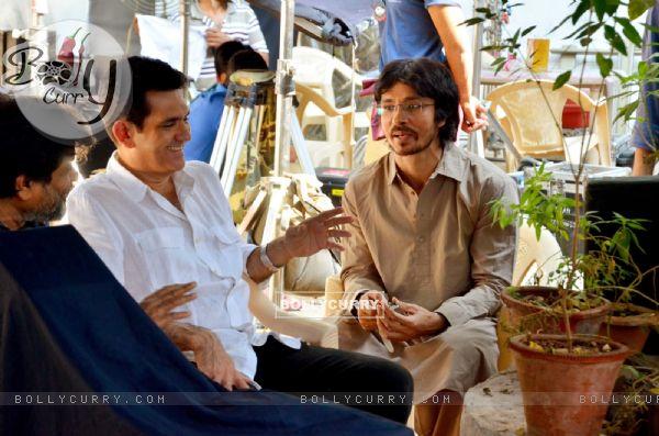 Darshan Kumar and Omung Kumar on the Sets of Sarabjit