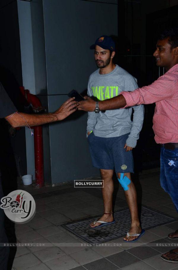 Injured Varun Dhawan Spotted