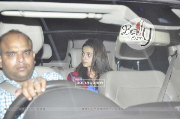 Alia Bhatt Snapped at Karan Johar's Office
