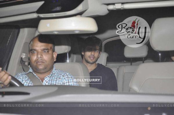 Alia Bhatt and Sidharth Malhotra Snapped at Karan Johar's Office