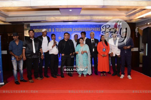 Saroj Khan, Remo Dsouza and Ahmad Khan at an Award Ceremony for inspiring the youth