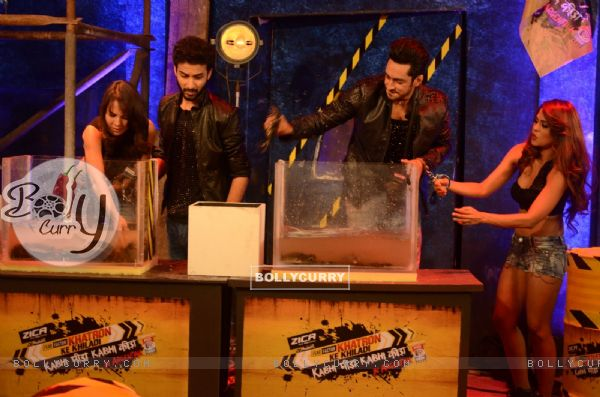 Bigg Boss 9 Contestants Performing Khatron Ke Khiladi Task