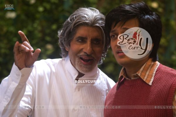Amitabh Bachchan giving advice to Ritesh Deshmukh