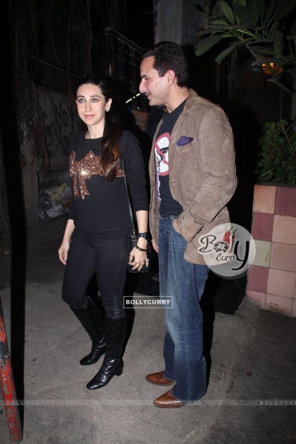 Karisma Kapoor Snapped with Saif Ali Khan