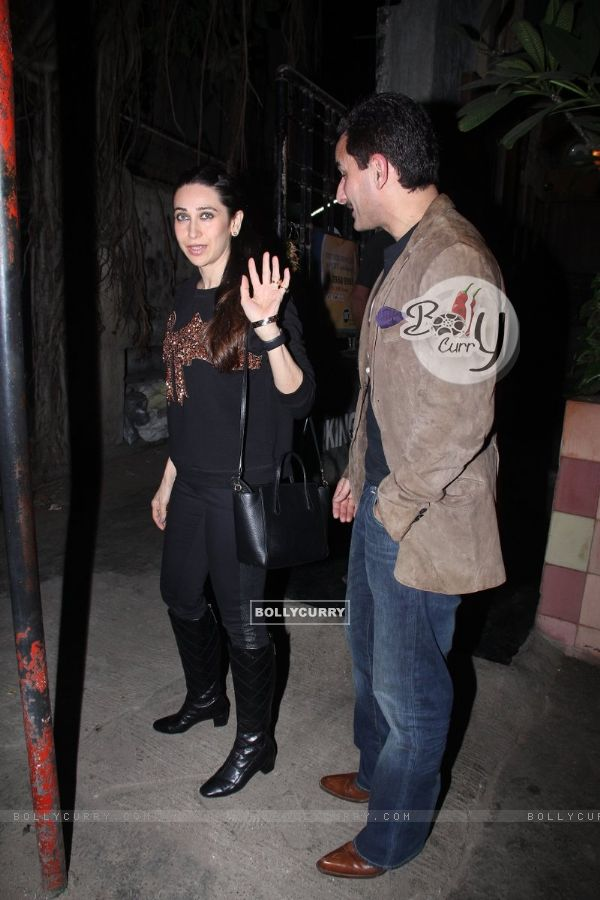Karisma Kapoor Snapped with Saif Ali Khan