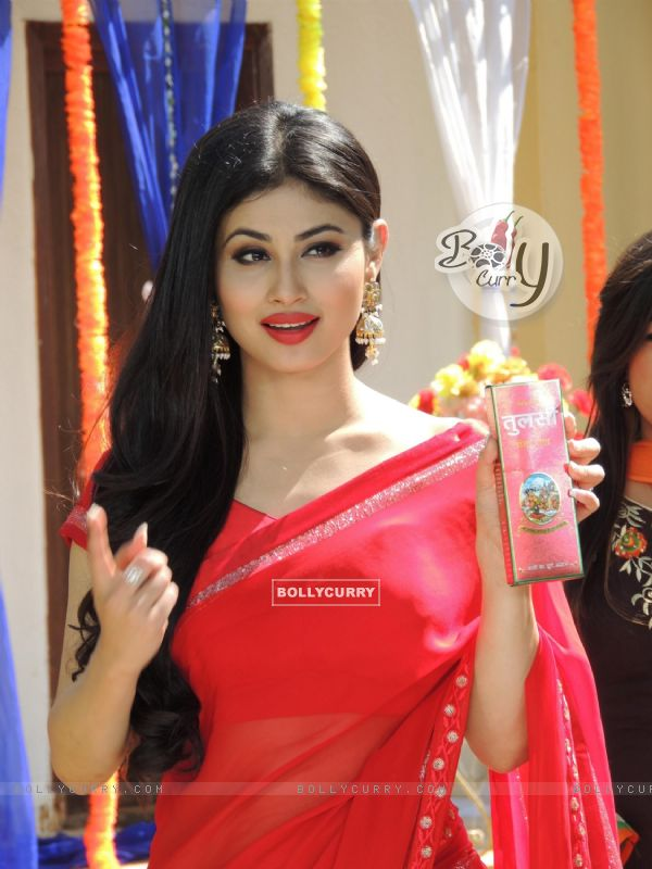 Mouni Roy Shoots as Brand ambassador For Tulsi Hair Oil