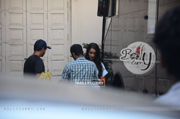 Shraddha Kapoor Snapped Shooting for Baaghi in Mumbai