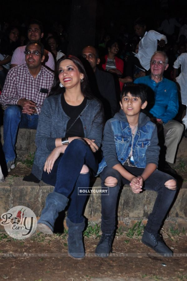 Sonali Bendre Snapped With Son