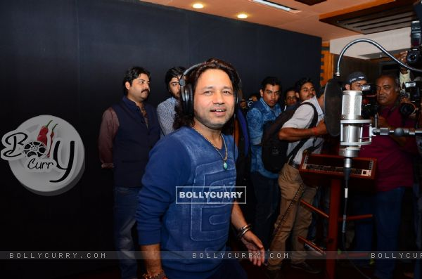 Kailash Kher at Recording Studio