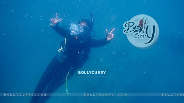 Sonakshi Sinha Goes Scuba Diving
