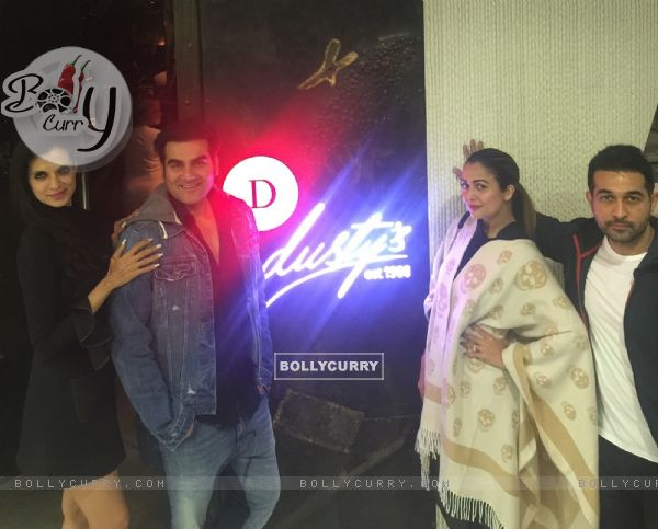 Arbaaz Khan and Amrita Arora at Rekha Tourani's Dusty's Dubai
