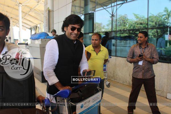 Ashutosh Rana Snapped at Airport