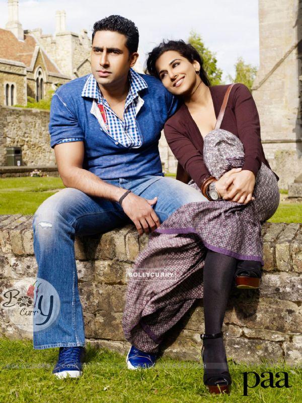 A still image of Abhishek and Vidya
