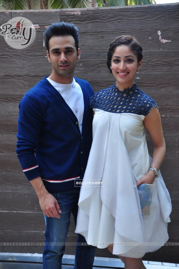 Pulkit Samrat and Yami Gautam at Press Meet of 'Sanam Re'