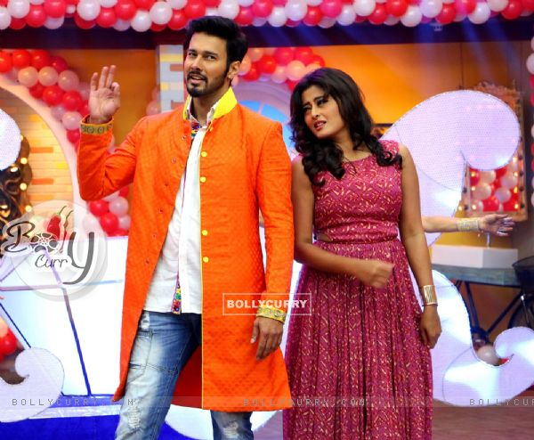 Rajneesh Duggal and Nidhi Subaiah for Promotions of 'Direct Ishq' on Comedy Classes