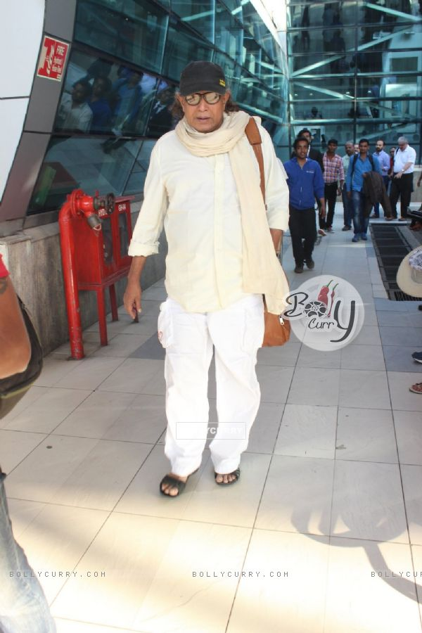 Mithun Chakraborty Snapped at Airport
