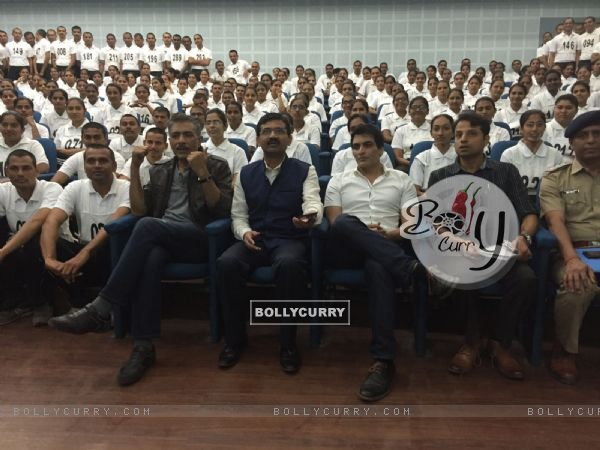 Jai Gangaajal cast interact with 400 cadets during their visit to the Gujarat Police academy