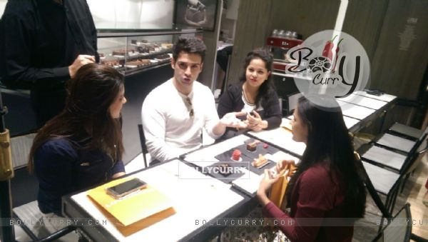 Loveshhuda Actor Girish Kumar Having a Coffee Date on Valentine's Day with Winners of FCUK contest. (396241)
