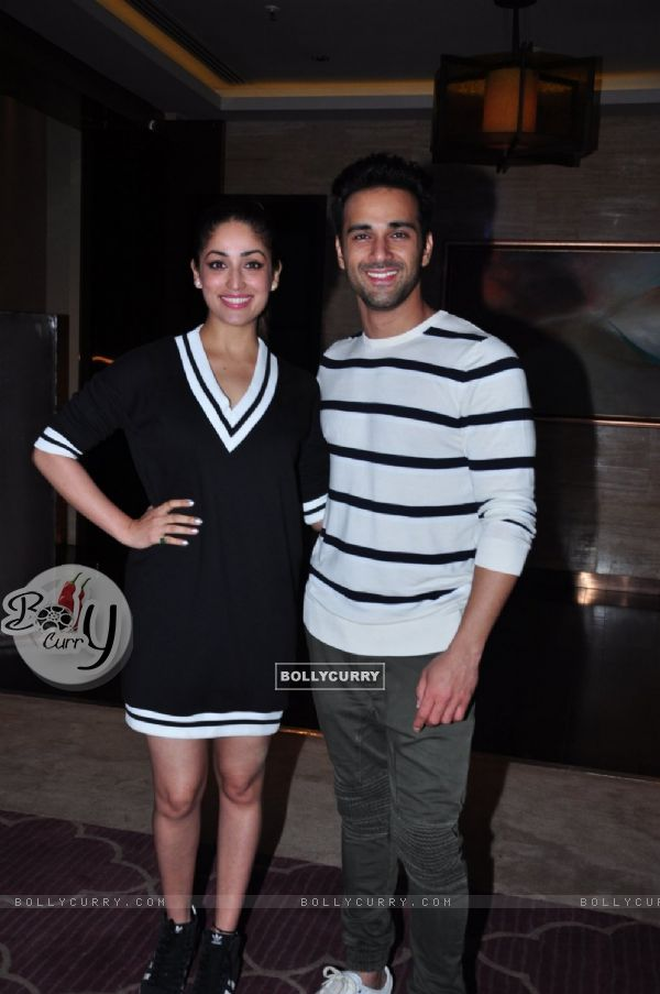 Pulkit Samrat and Yami Gautam at Success Bash of Sanam Re