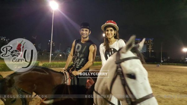 Sushant Singh Rajput and Kriti Sanon spotted practicing for Raabta