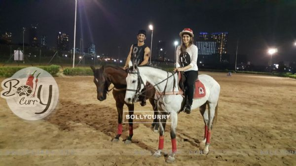 Sushant Singh  Rajput and Kriti Sanon on a Horse Ride