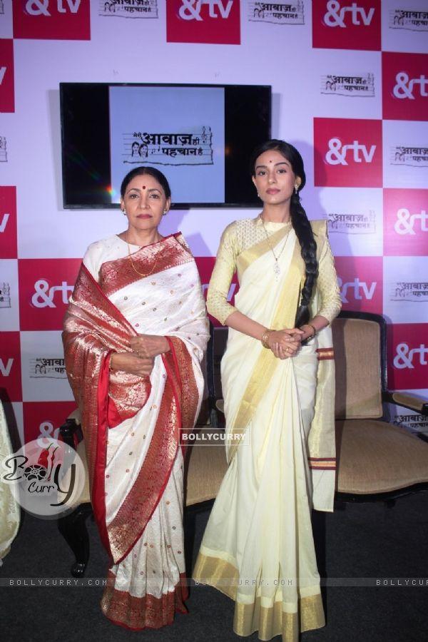 Deepti Naval and Amrita Rao at Launch of &TV's 'Meri Awaaz Hi Pehchaan Hai'