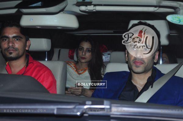 Tusshar Kapoor and Tabu at Dr. Agarwal's Daughter's Wedding