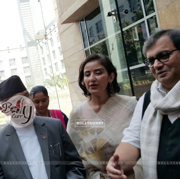 Subhash Ghai with Manisha Koirala meets Nepal PM