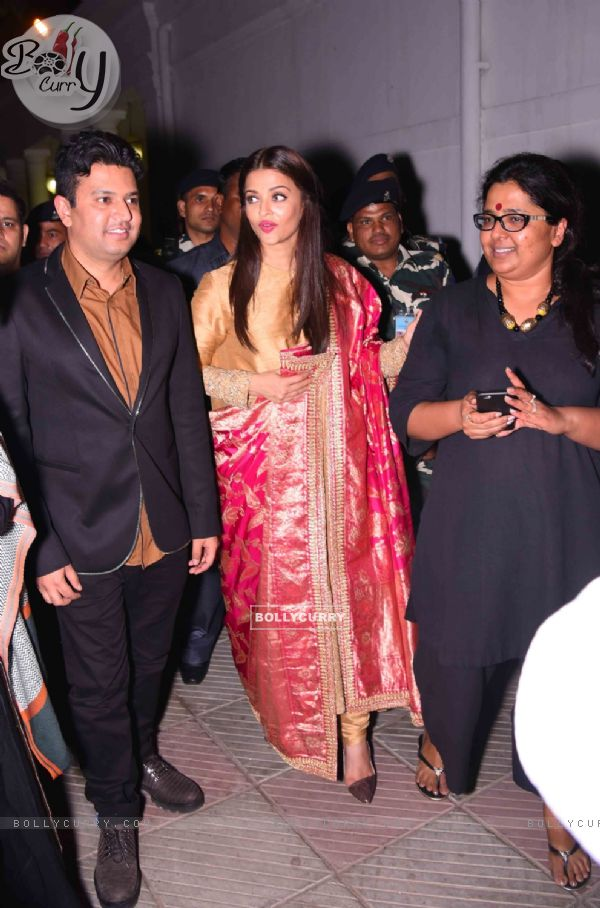Bhushan Kumar and Aishwarya Rai Bachchan at Poster Launch of 'Sarabjit'