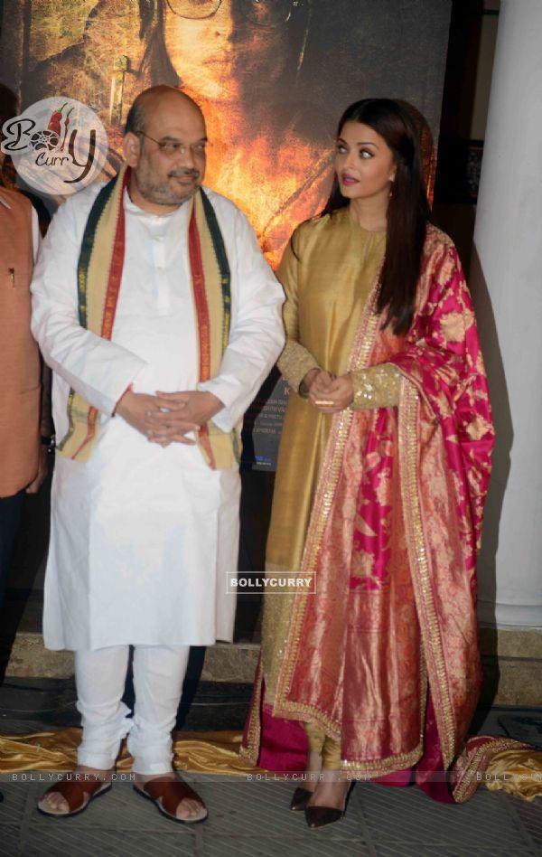 BJP President Amit Shah and Aishwarya Rai Bachchan at Poster Launch of 'Sarabjit' (398066)