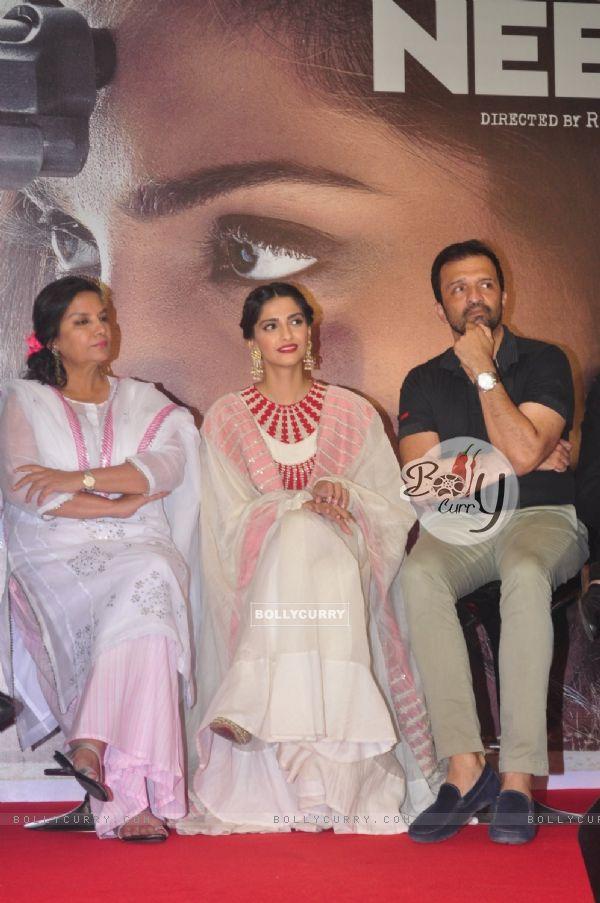 Shabana Azmi, Sonam Kapoor and Atul Kasbekar at Promotional Event of 'Neerja'