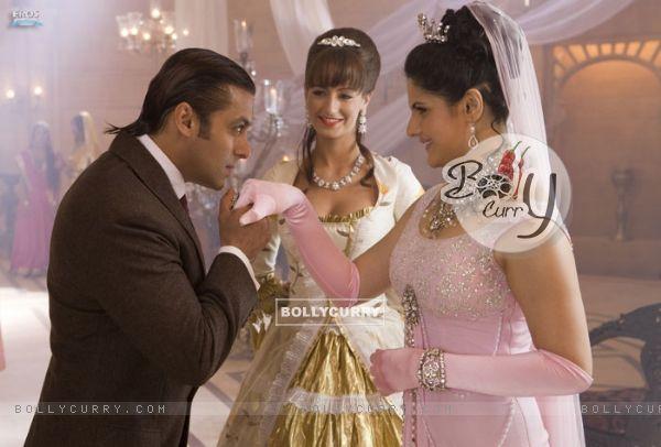 Salman Khan proposing Zarine Khan