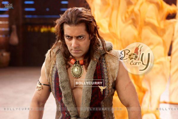 Angry Salman in the movie Veer