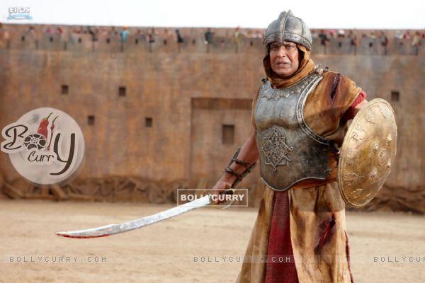 Mithun Chakraborty with sword and shield (39865)